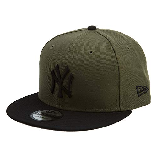 (New Era 950 New York Yankee Snapback #32 Unisex Style : 70405643-OLIVE/BLACK Size : OS)