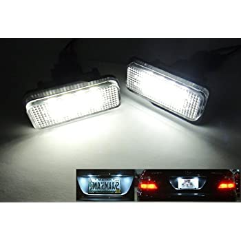 Fits Mercedes C-Class W204 C 63 AMG White 12-SMD LED COB Number Plate Bulbs