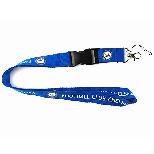 Football Club Soccer Team Lanyard Key|Mobile Phone|Papers Hanging Lanyard (Chelsea Blue, 21.61 inch)