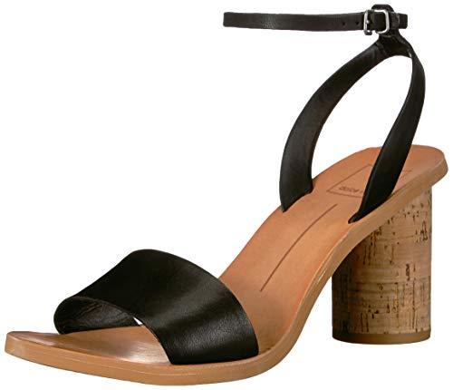 Dolce Vita Women's Jali Sandal, Black Leather, 8 M US