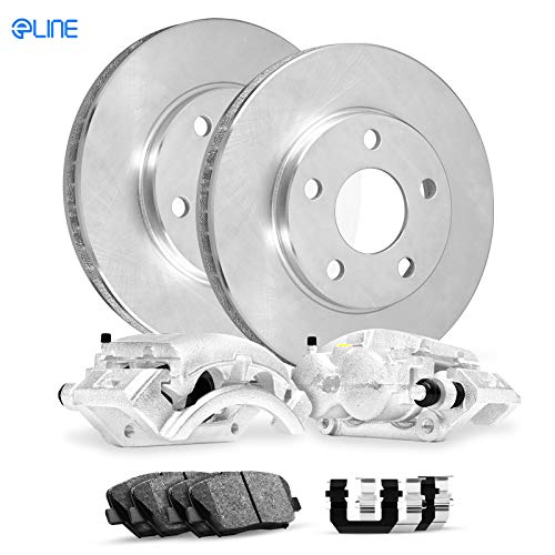 For 1993-1997 Geo,Toyota Prizm,Corolla Front Calipers+Brake Rotors+Pads+Hardware