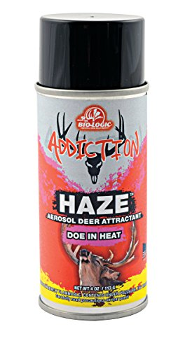 Mossy Oak Biologic Addiction Haze 4Oz Doe In Heat Aerosol Deer Attractant