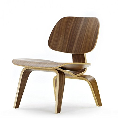 ArtisDecor Molded Plywood Lounge Chair in Walnut Brown