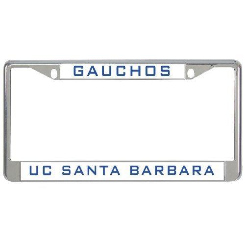 Santa Barbara Metal - UC Santa Barbara Metal License Plate Frame in Chrome Gauchos 12
