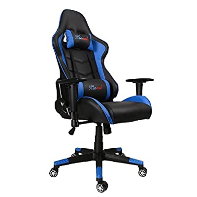 Kinsal Gaming Chair High-back Computer Chair, Ergonomic Racing Chair, Leather Premium Lumbar Support Swivel Executive Office Chair Including Headrest and Lumbar Pillow by Kinsal