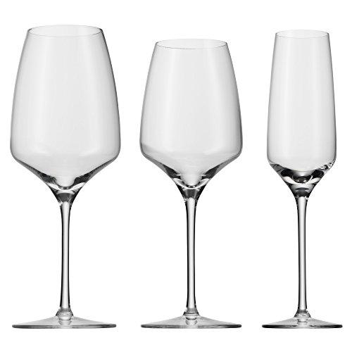 WMF Gläserset 18-teilig Pro Wine mit je 6 Gläser Rotwein, Weißwein & Sekt aus hochwertigem Kristallglas Made in Germany, spülmaschinenbeständig