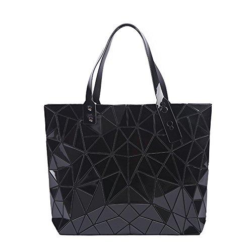 Bolso de hombro del totalizador de la bolsa de hombro de la PU de la moda de las mujeres bolsos de la moda de Lingge Black