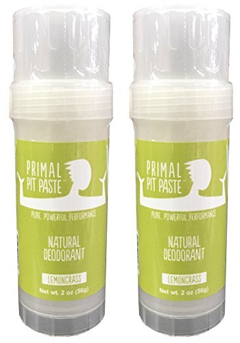 Primal Pit Paste Natural Deodorant Lemongrass Pack of 2 ()