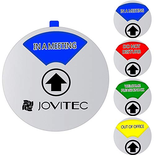 Jovitec Privacy Sign Office Sign, Include in a Meeting Sign Welcome Please Knock Sign Do Not Disturb Sign Out of Office Sign for Home Office Supplies (Color 2, 5.9 Inches)