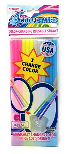 Magic Cool Change Reusable Color Change Straws