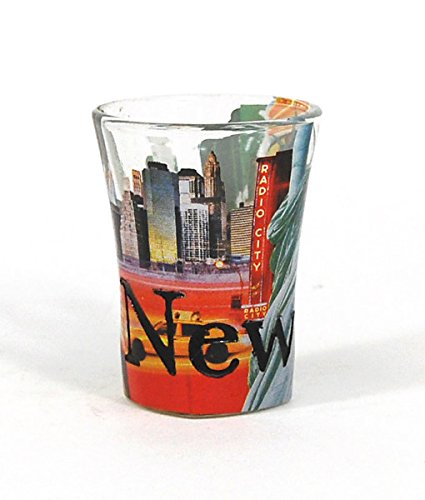 Americaware SGNYC03 New York Full Color & Etched Shot Glass