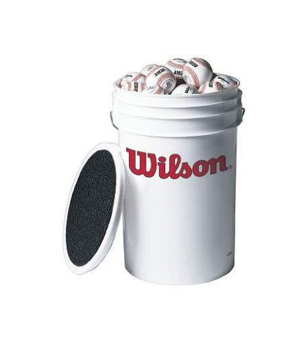 Wilson Bucket of Baseballs (3 dozen) by Wilson