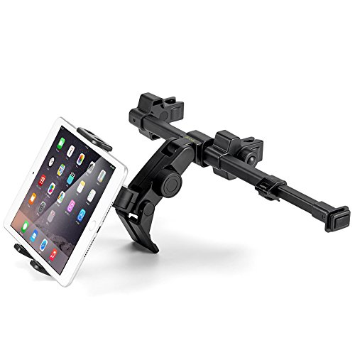 iKross Car Headrest Cradle Mount Holder with Center Extension fits 7-12-Inch Tablets for Apple iPad Pro/Air/Mini, Samsung Galaxy Tab, Microsoft Surface Pro, ASUS ZenPad 3S 10, Nintendo Switch ()
