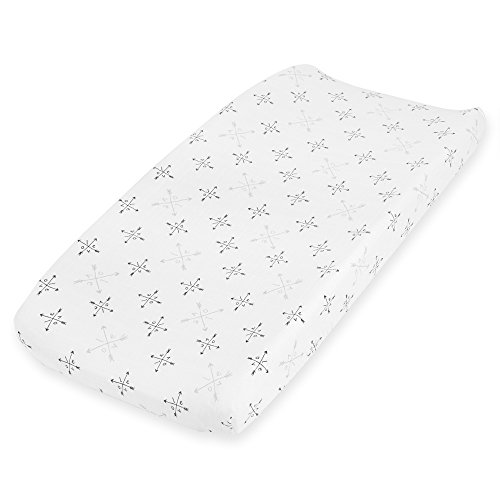 Aden + Anais Classic Changing pad Cover, 100% Cotton Muslin, Super Soft, Breathable, Lovestruck - Love by aden + anais