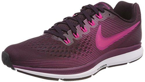 NIKE Women's Air Zoom Pegasus 34 Running Shoe Port Wine/Deadly Pink/Tea Berry/Black Size 9 M US -