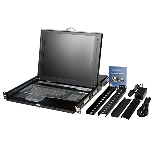 StarTech.com 1U 17-Inch  Rack Mount LCD Console with Integrated 16 Port IP KVM Switch (CABCONS1716I) by StarTech (Image #4)