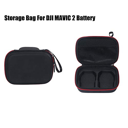 (RC Battery Carrying Bag for DJI Mavic 2 Pro/Zoom Drone, Portable Nylon EVA Battery Carrying Bag Storage Protective Case for DJI Mavic 2 Pro/Zoom (Available for 2 Battery in one Bag))