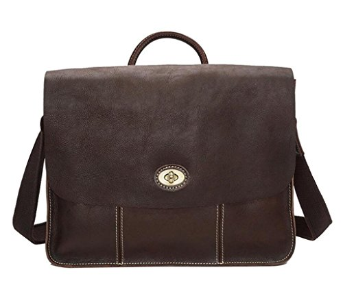 de perfectos la brown Cuero BAO Dark Bolsos Regalos Viajes Oblicuo de dark de Moda Trabajo de Bolsos Hombres Cuero Brillante Brown maletín los Compras HAH70qw