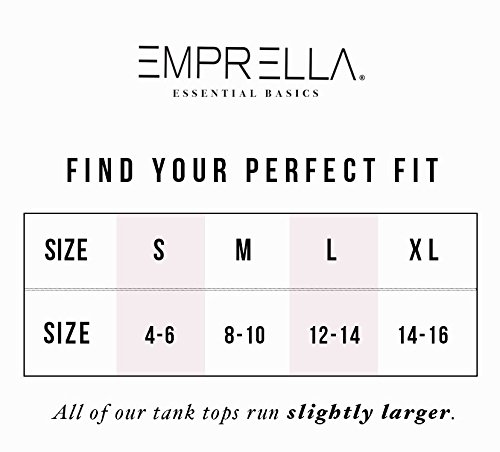 Emprella Tank Tops for Women Racerback Tanks Pack of 4 Assorted Colors (X-Large, Assorted 1) by Emprella (Image #5)