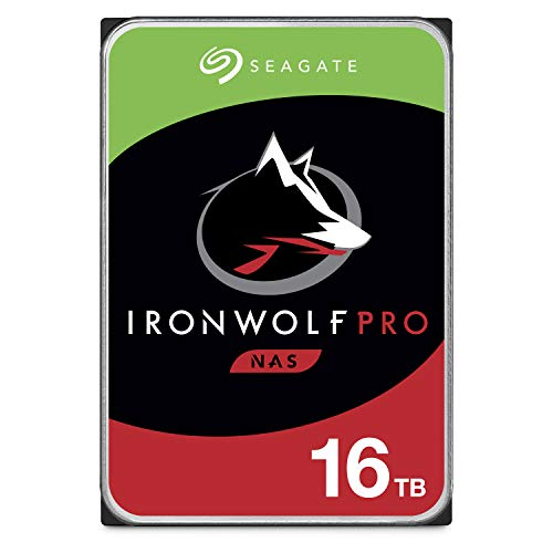 Seagate IronWolf Pro 16TB NAS Internal Hard Drive HDD - 3.5 Inch SATA 6GB/S 7200 RPM 256MB Cache for Raid Network Attached Storage, Data Recovery Rescue Service (ST16000NE000)