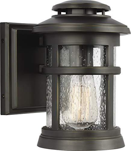 Feiss OL14300ANBZ Newport StoneStrong Marine Grade Outdoor Patio Lighting Wall Lantern, Bronze, 1-Light (6