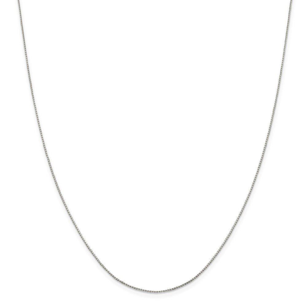 Beautiful Sterling silver 925 sterling Sterling Silver .6mm 8 Sided Diamond-cut Mirror Box Chain