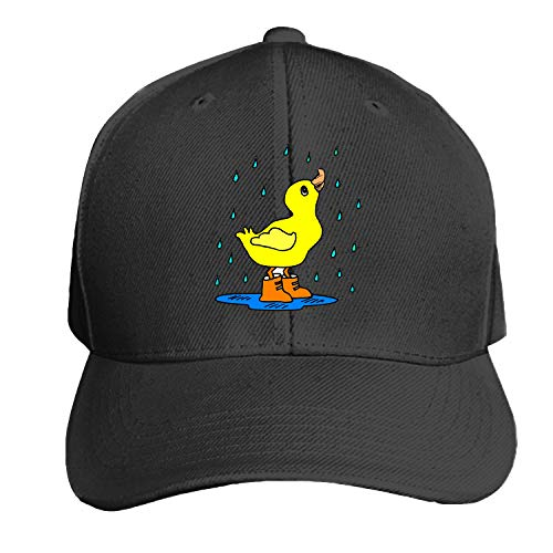 Peaked hat Rain Duck Puddle Boots Water Bird Printed Sandwich Baseball Cap for Unisex Adjustable Hat -