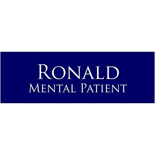 Mental Patient Halloween Costume Name Tag - Funny Halloween Costume