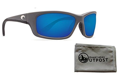 Costa del Mar Jose Blue Mirror 580P Matte Gray Frame Sunglasses w/Cloth (Costa Del Mar José)