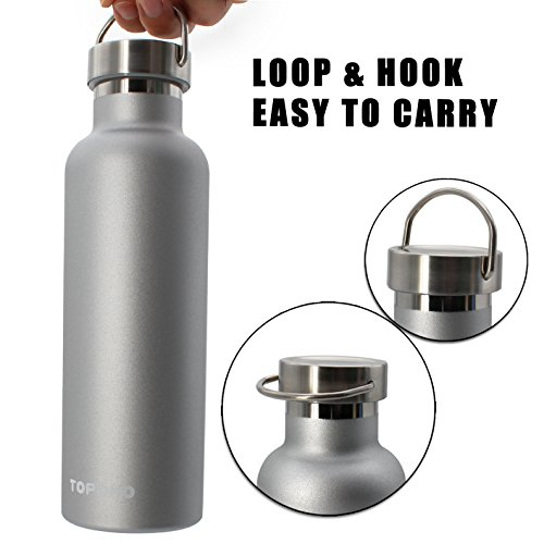 Topoko 25 Oz Stainless Steel Water Bottle Double Wall