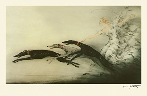 Icart: Speed Greyhound Dogs with a Lady. 10