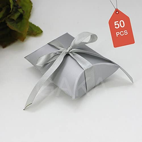 50 SMALL BLACK PILLOW BOX WEDDING FAVOURS JEWELLERY GIFTS