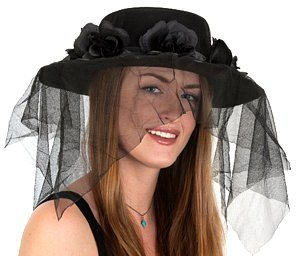 Jacobson Hat Company Black Spanish Hat with Veil,One Size]()