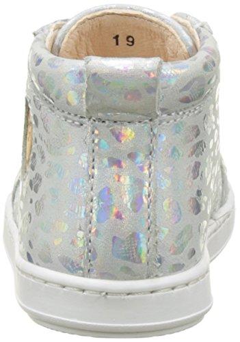 Shoopom Bouba Pad Lace - Primeros Pasos de Otra Piel Bebé-Niños Plata (Silver)