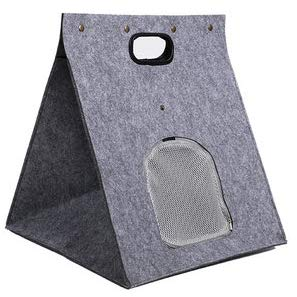 GXLO Portador Plegable de nidos para Mascotas y Portador de Cama portátil para Gatos y Perros, con Fieltro de Lana 100% Natural,Gray,40x40x42cm: Amazon.es: ...