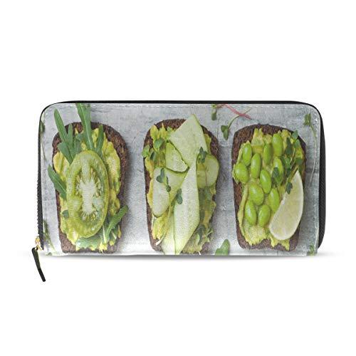 Fragrant And Attractive Avocado Long Passport Clutch Purses Zipper Wallet Case Handbag Money Organizer Bag Credit Card Holder For Lady Women Girl Men Travel Gift]()