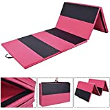 Giantex Gymnastics Mat Thick Folding Panel Gym Fitness Exercise Mat