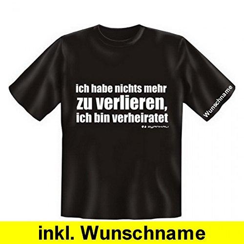 T-Shirt als tolles Geschenk ! Wunsch Namen Shirt - Bin verheiratet - richtig für Ehe Gatten !