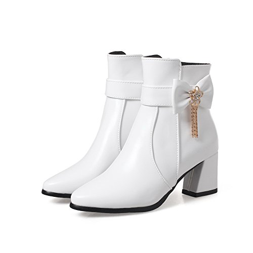 1TO9 Womens Boots Closed-Toe Zip Water_Resistant Warm Lining Smooth Leather Dye-To-Match Bootie Dress Urethane Boots MNS02590 White ppj88tZ5