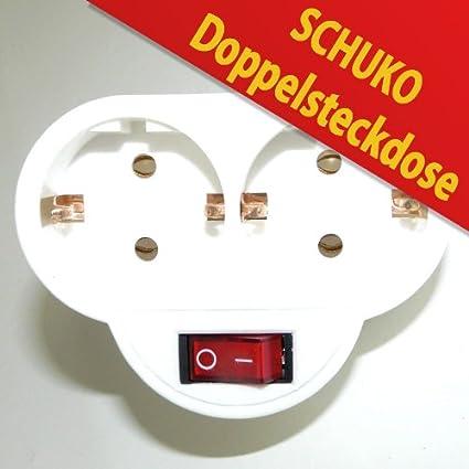 Top Doppelsteckdose Steckdose mit Schalter Schuko: Amazon.de: Elektronik YE48