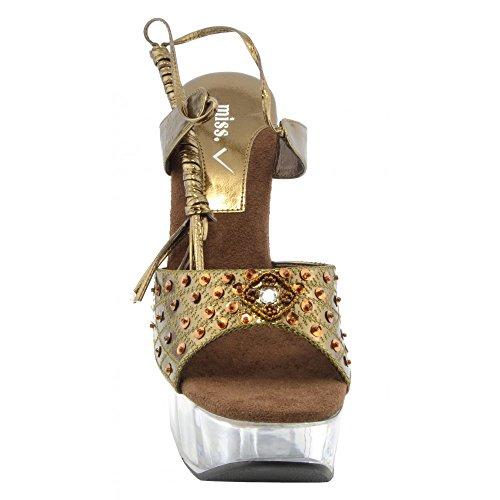 Platform Bronze Heels Shoes Clear Womens Pole Kick High Charmaine Dancing Footwear Perspex Fashion xq8Rwp7Rf