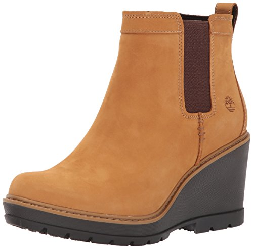 Timberland Women's Kellis Double Gore Chelsea Boot,Wheat Nubuck,8.5 M US