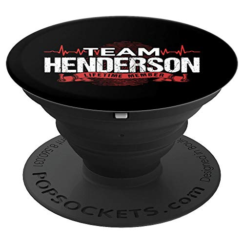 - HENDERSON TEAM Family Reunions DNA Heartbeat  T-Shirt PopSockets Grip and Stand for Phones and Tablets