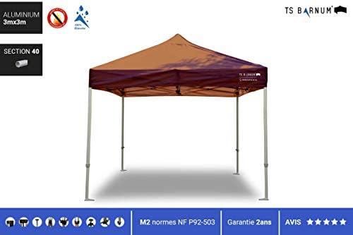 Barnum Aluminio # 40, Color marrón, tamaño 3m x 3m (M2), 97.00, 236.22 x 118.11 x 78.74inches: Amazon.es: Jardín