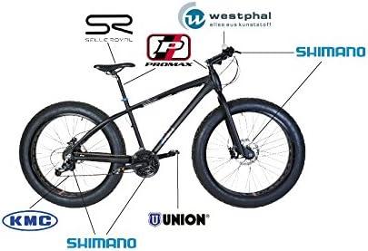 fischer Fahrrad Fat Bike MTB 24-Gang Deore FF1518 - Bicicleta de ...