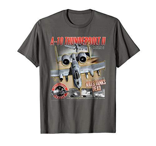 Aviation Tee: A-10 Thunderbolt II (Warthog) Kills Tanks ()