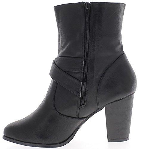 Stiefel schwarz hochgewachsene Frau Größe Ferse 9,5 cm Leder mit Flanschen