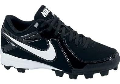 Youth Nike MVP Keystone Low LE Molded Wide Baseball Cleat Black/White Size 3