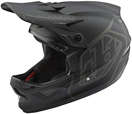 Troy Lee Designs 大人用 | ダウンヒル | マウンテンバイク | BMX | フルフェイス D3 ファイバーライト ミッドナイトヘルメット (L、ブラック)