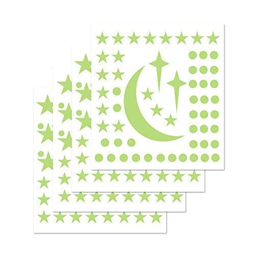 PARLAIM 0112 Glow in The Dark Stars and Moon Wall Decals, Glowing Stars for Ceiling Wall Stickers Perfect for Kids Nursery Bedroom Living Room – 272 pcs ()